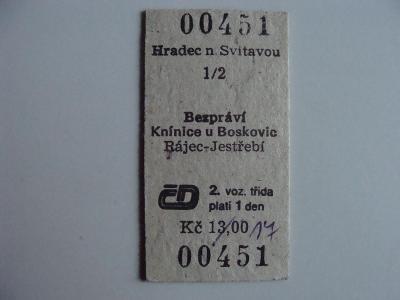 KARTONOVÁ JÍZDENKA ČSD, originál foto, aukce od korunky