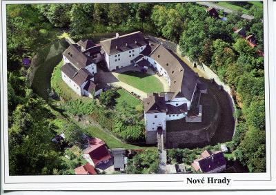 Nové Hrady (České Budějovice), hrad, letecký