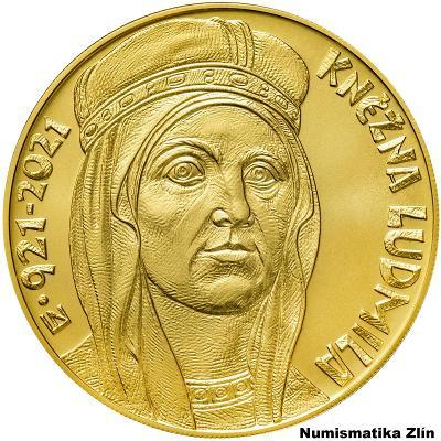 Zlatá mince 10.000 Kč Kněžna Ludmila 2021 b.k.