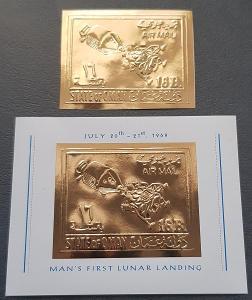 Oman 1969, kosmos, Apollo 11, gold provedení