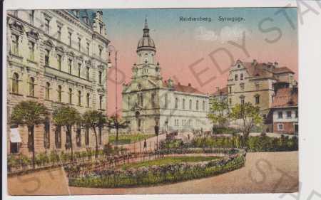 Liberec (Reichenberg) - synagoga, kolorovaná