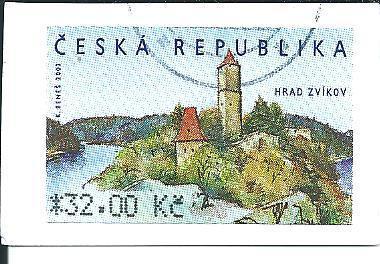 Automatová známka Hrad Zvíkov  2002, raž. zn. 32,00