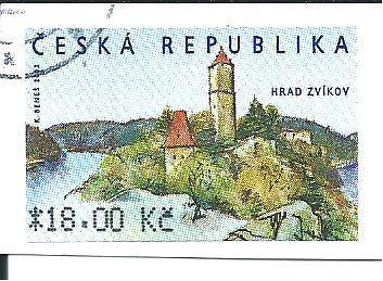 Automatová známka Hrad Zvíkov  2002, raž. zn. 18,00