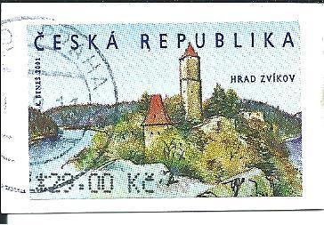 Automatová známka Hrad Zvíkov  2002, raž. zn. 29,00