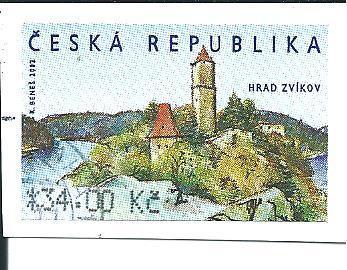 Automatová známka Hrad Zvíkov 1.9.  2002, raž. zn. 34,00