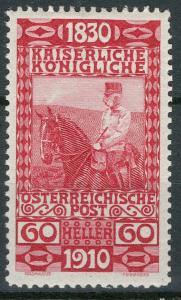 Rakousko / Österreich 1910 - 80. GEBURTSTAG KAISER - ANK / Mi. 173 **