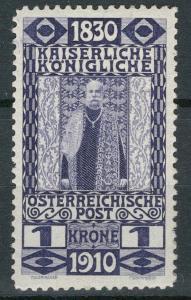 Rakousko / Österreich 1910 - 80. GEBURTSTAG KAISER - ANK / Mi. 174 **
