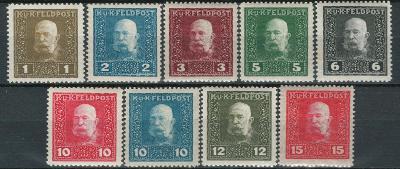 Rakousko / Österreich 1915 - K. u K. FELDPOST - ANK / Mi. 22 - 30 **