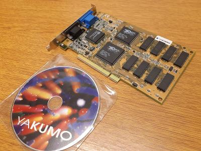 RETRO HW - Yakumo 3Dfx Voodoo 1, 4MB, PCI + orig. CD