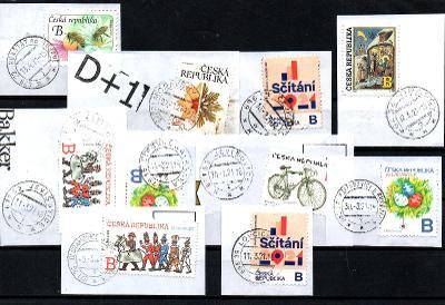 Sestava vybraných ručních razítek na známkách ČR, PSČ 6xx xx (r145)