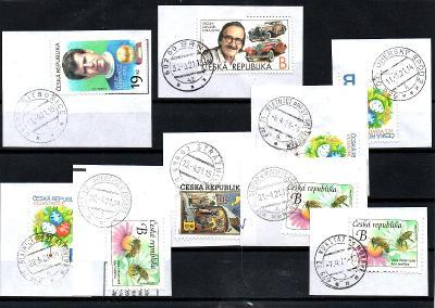 Sestava vybraných ručních razítek na známkách ČR, PSČ 6xx xx (r147)