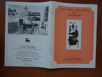 Alte Uhren und Geräte - Verkaufskatalog - Lukas Stolberg - Sommer 1992