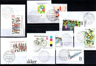 Sestava vybraných ručních razítek na známkách ČR, PSČ 6xx xx (r156)