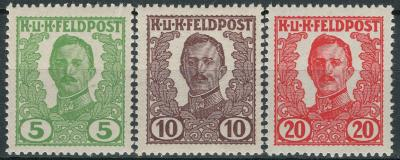 Rakousko / Österreich 1918 - K. u K. FELDPOST - ANK / Mi. IV - VI *