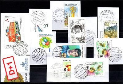 Sestava vybraných ručních razítek na známkách ČR, PSČ 6xx xx (r170)
