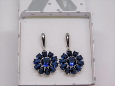Krásné stříbrné náušnice se zirkony - aukce od koruny.