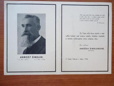 Arnošt  Šindler / 1877 - 1944/