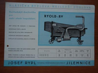 Jilemnice - Josef Rypl - mlátička