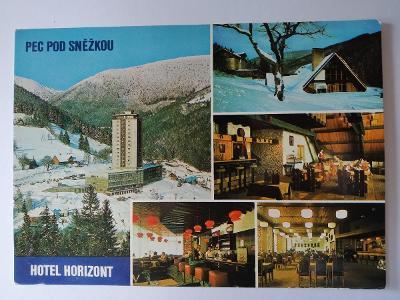 Pohlednice Krkonoše Pec pod Sněžkou Hotel Horizont Restaurace Kovárna