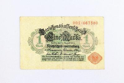 NĚMECKO // 1 MARK 1914 // neperf. /1