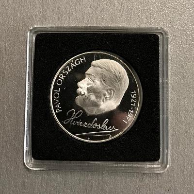 R!Stříbrná mince 50Kčs PROOF 1971-50. výročí P.O. Hviezdosl,4.772ks