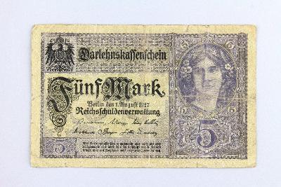 NĚMECKO // 5 MARK 1917 // neperf. /3