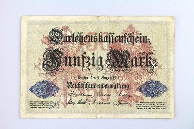 NĚMECKO // 50 MARK 1914 // neperf. /6