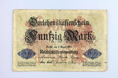 NĚMECKO // 50 MARK 1914 // neperf. /7