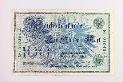 NĚMECKO // 100 MARK 1908 // neperf. /8