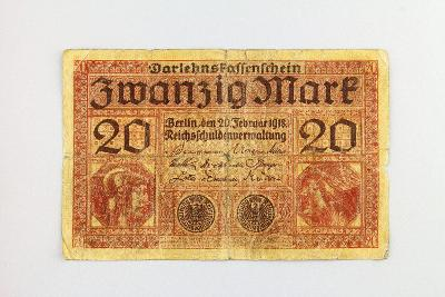 NĚMECKO // 20 MARK 1918 // neperf. /9