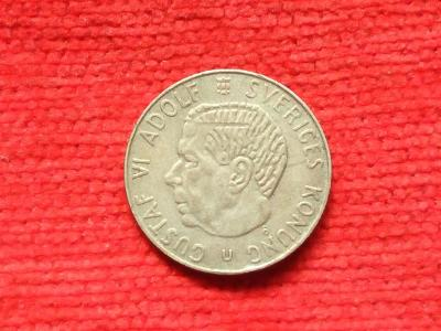 Svedsko 1 krone 1963 stribro!