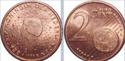 Euromince - Nizozemsko 2 Eurocent - 1999