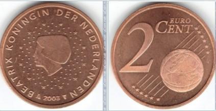 Euromince - Nizozemsko 2 Eurocent - 2003