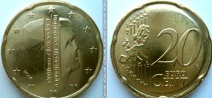 Euromince - Nizozemsko 20 Eurocent - 2014