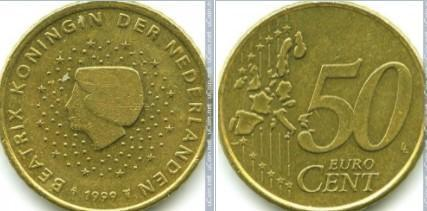 Euromince - Nizozemsko 50 Eurocent - 1999