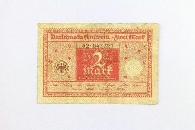 NĚMECKO // 2 MARK 1920 // neperf. /19