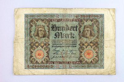 NĚMECKO // 100 MARK 1920 // neperf. /22