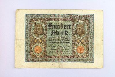 NĚMECKO // 100 MARK 1920 // neperf. /23