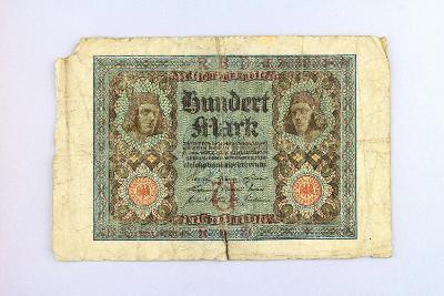 NĚMECKO // 100 MARK 1920 // neperf. /24