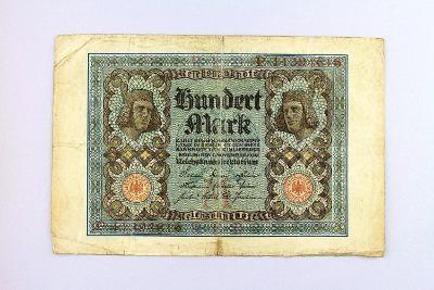 NĚMECKO // 100 MARK 1920 // neperf. /25