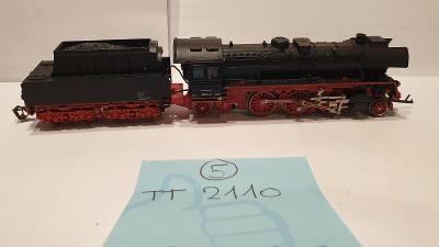 TT - Model parní lokomotiva s uhlákem/tendrem - vláčky  TT