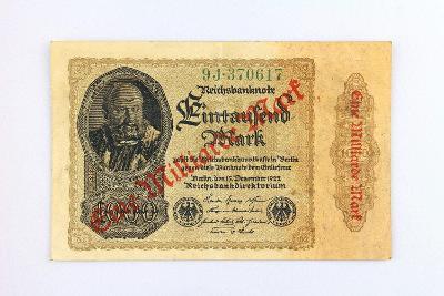 NĚMECKO // 1000 MARK 1922 přetisk EINE MILIARDE // neperf. /27