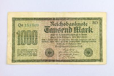 NĚMECKO // 1000 MARK 1922 // neperf. /28