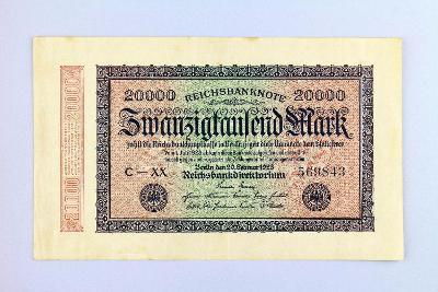 NĚMECKO // 20000 MARK 1923 // neperf. /31