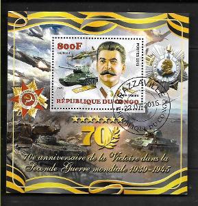 Kongo 2015 - Stalin, tank T-34, Iljušin Il-2, vyznamenání