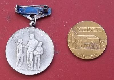 staré Vyznamenání ČSTV a medaile razič Kremnica bronz ČSR