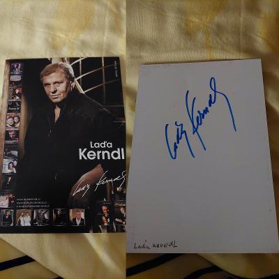 Originál autogram Laďa Kerndl