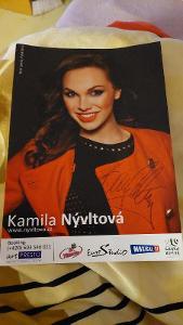 Autogram Kamila Nývltová