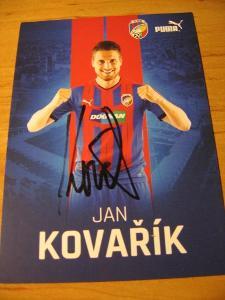 Jan Kovařík - Viktoria Plzeň - orig. autogram
