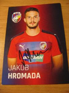 Jakub Hromada - V. Plzeň - orig. autogram